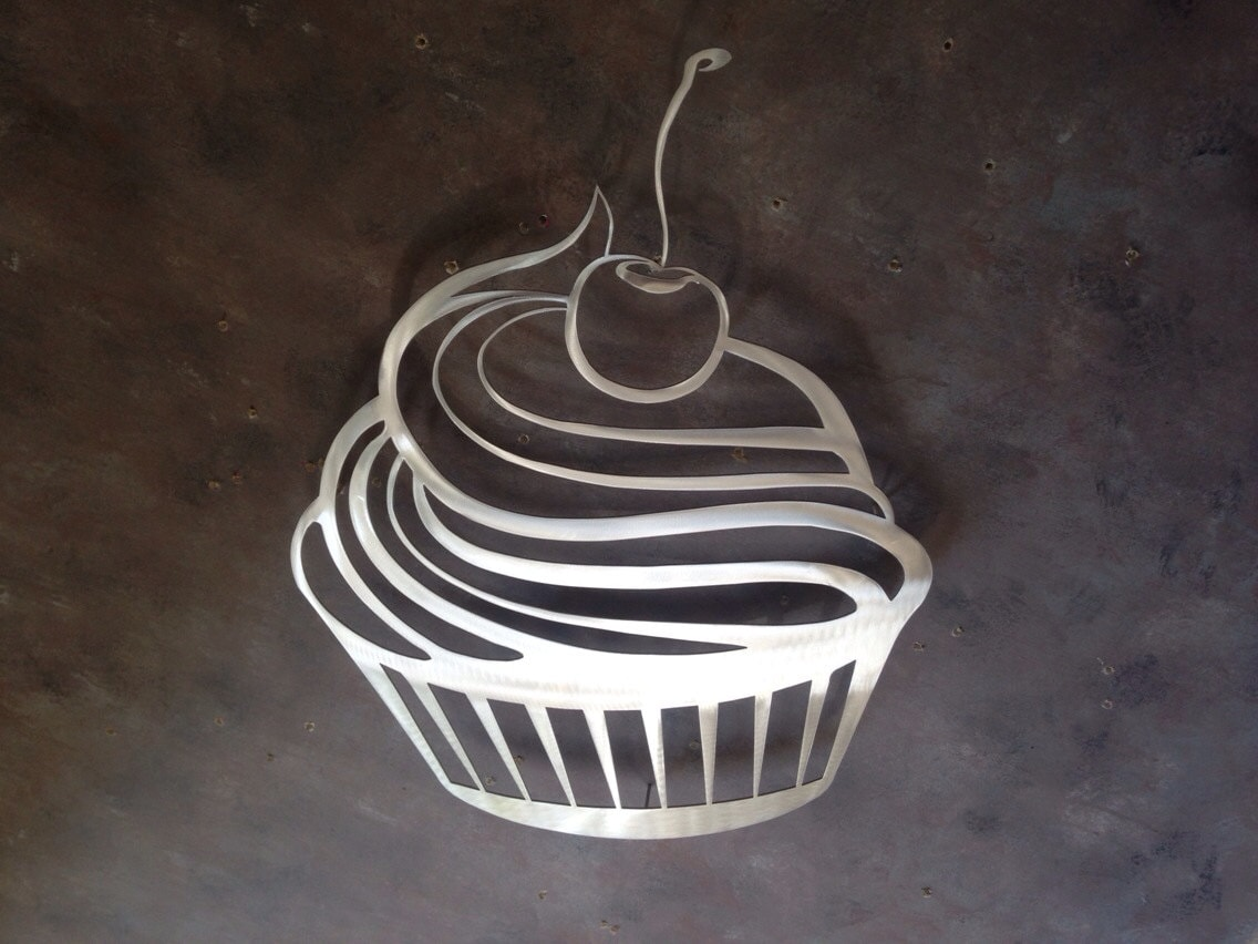 Cupcake Metal Wall Art Kitchen Wall Decor Kitchen Art