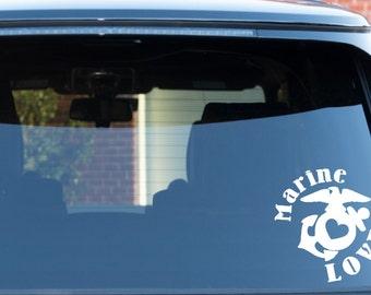 Marine Love Decal, Car Sticker