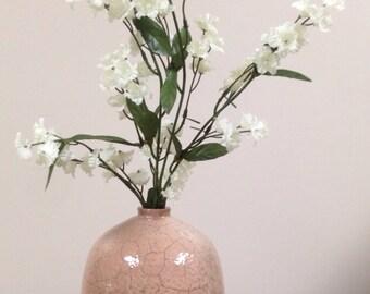 Raku Fired Brown-Clay Vase