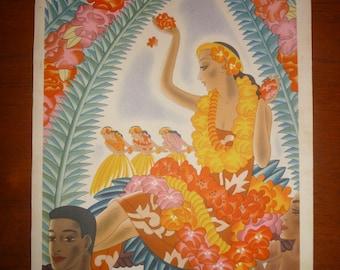 Frank McIntosh Hawaii Menu Mid-Century Tiki 1940s