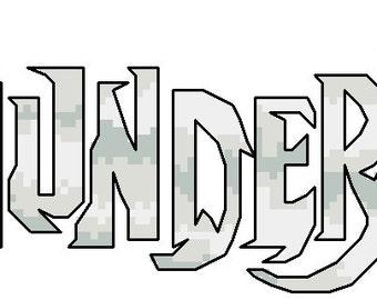 Thundercats Retro cartoon 80's Cross Stitch Pattern