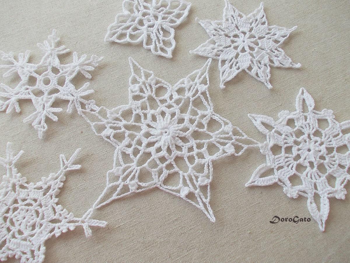 Pizzo fiocchi di neve all 39 uncinetto addobbi natalizi for Addobbi natalizi uncinetto