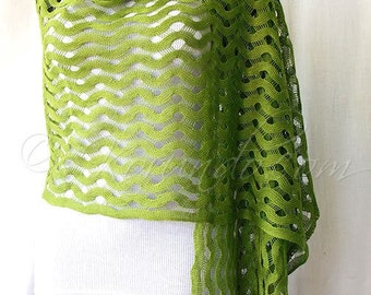 Linen shawl scarf - moss green color - 100 natural high quality linen