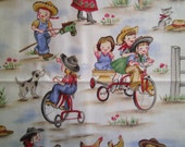 1 Yard Country Time Child's Play Fabric to Sew
