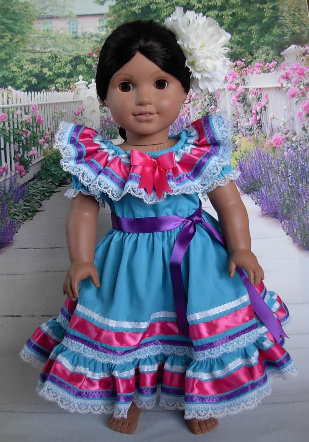 mexican folklorico dress for cinco de mayo fits josefina