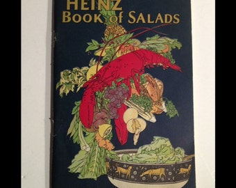 1925 HEINZ 57 - Book of Salads - Vintage Recipe & Cookbook garnishes etiquette