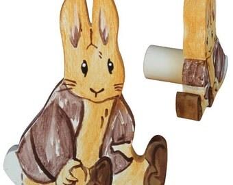 Benjamin Bunny Drawer Knob - Beatrix Potter Drawer Pull