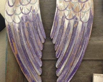 Wooden Angel Wings Hand Cut Home Decor