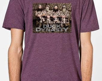 Duck Dynasty Shirt Camo Uncle Si Duck Commander American Apparel bb401