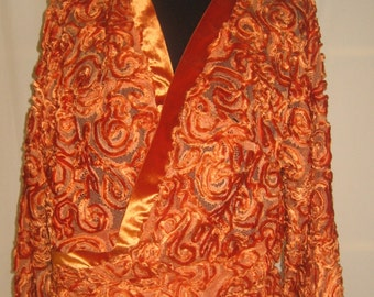 Wrap chenille on lace orange