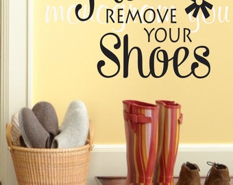 No Shoes Wall Decal Etsy - Custom vinyl wall decals removal options
