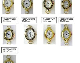 Watch Face Narmi and Geneva Gold Loop Watch Faces Beading Watch Face Gold Oval Watch Face - 1 Piece