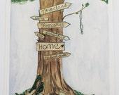 literary tree signs- 8x10 Digital Print