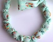 Teething Necklace - Made with Spoonflower designer artisan cotton fabric