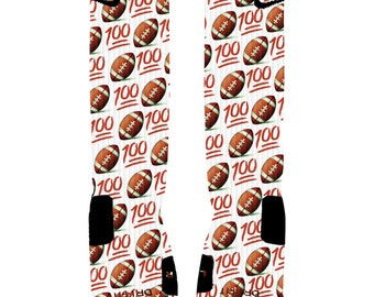 custom emoji football 100 socks custom nike elite socks