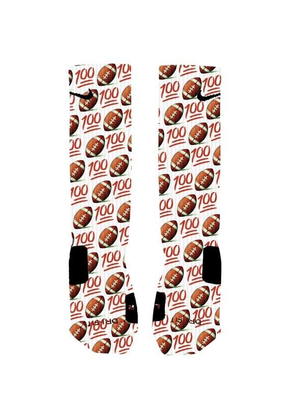 emoji football 100 custom nike elite socks