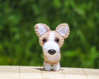 Welsh Corgi Pet Portrait Crochet Dog Amigurumi Dog Stuffed Animal - Made to Order