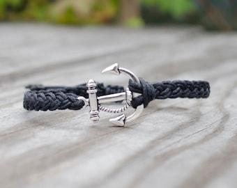 Unisex Anchor Bracelet - Adjustable, Anchor Bracelet Men, Anchor Bracelet Women, Nautical Anchor Bracelet, Couples Bracelet