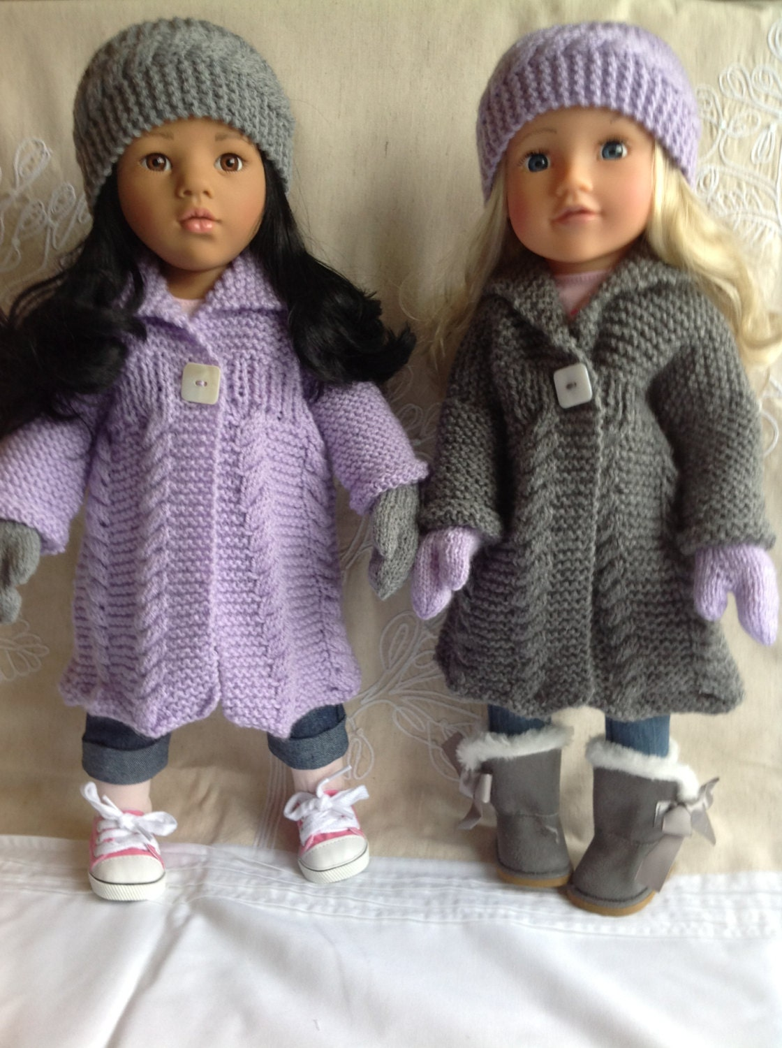 Dolls Fashion Clothes Knitting pattern. 18 doll. Gotz