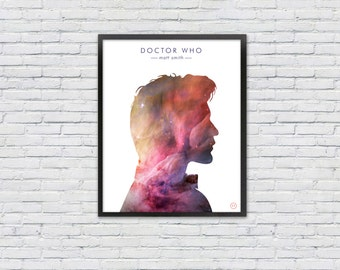 Doctor Who Poster /  Matt Smith Silhouette