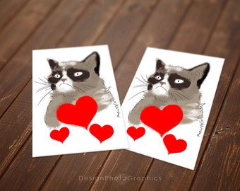 Grumpy Cat Valentineu0027s Day   Lover Card   Instant Download   Printable Cards