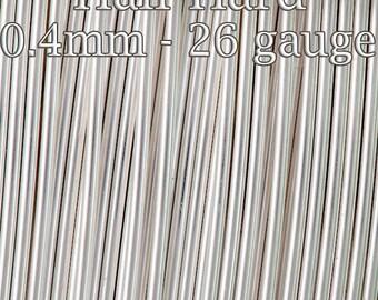 100FT(30mt) Silver filled wire half hard round 26gauge 0.4mm , Fine silver filled wire alternative 925 silver tarnish resistant