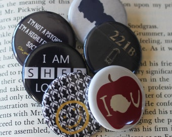 "SHERLOCK  1.25"" Button Pin Pinback Button Gift"