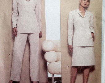 Anne Klein Jacket, Skirt and Pants Pattern Vogue 2622 BUST 30.5-31.5-32.5 UNCUT