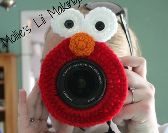 Elmo Inspired Camera Buddy - lens buddy