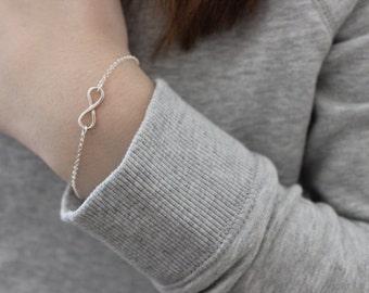 Infinity sign bracelet / best friend gift / 925 sterling silver bracelet / gift for her / infinity symbol bracelet / wedding bracelet