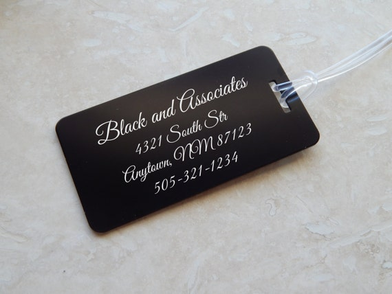 Personalized Aluminum Luggage Tag By Blackdogengraving On Etsy