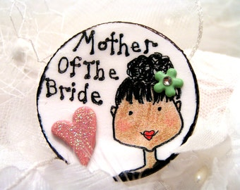 Upswept Do For Mother Of The Bride ,Pin For Mom To Wear,African American Or White With Light Brown Hair/Will Customize