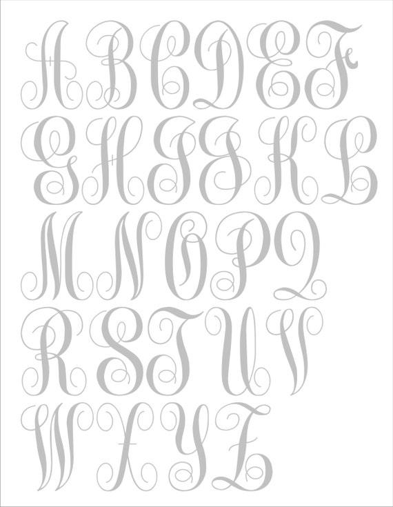 Items similar to diy wedding signs stencils custom for Large monogram letter stencil