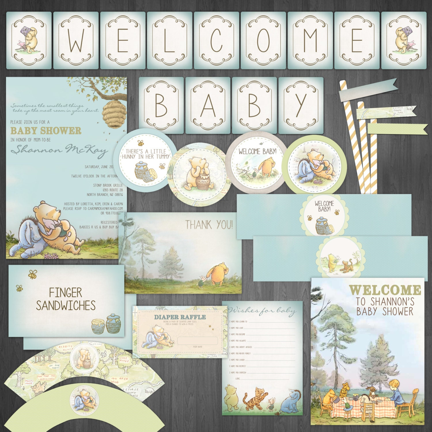 classic winnie the pooh diy baby shower by designsbycassiecm