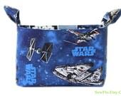 Star Wars Storage Bin | TIE Fighter Gift Basket | Millennium Falcon Bedroom Storage | Desk Organizer