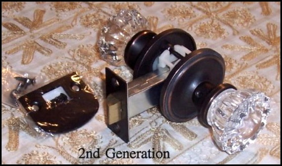 Depression Crystal Door Knob Sets Ready To By Roussodesigns