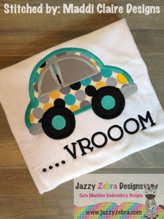Car 34 Applique Embroidery Design - Automobile applique Embroidery Design - car applique design - boy appliqué design - auto appliqué design