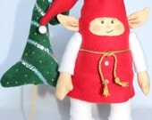 Fabric Dolls, Rag Doll, Red, White, Green Gift for Kids, Gift for girl, Gnome, Eco-Friendly, Christmas Gift, Christmas tree
