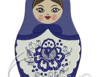 MACHINE EMBROIDERY FILE - Russian doll Matreshka