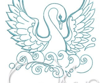 MACHINE EMBROIDERY FILE - Swan