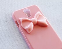 Samsung Galaxy S4 Cases Pink Ribbon Cute and Girly Samsung S4 Cases Preppy Galaxy S4 Case Simple Galaxy S4 Case Bow Phone Case S4 Minimal