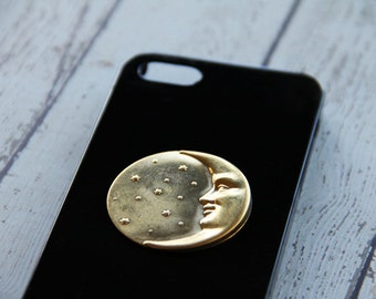 Moon Case iPhone5 Moon Cover iPhone 5c Moon Case iPhone 6 Plus Moon Unique iPhone 5 Case Unique iPhone 5c Cover Black iPhone 6 Moon