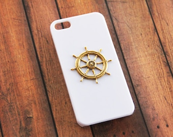 Nautical Phone 6 Case iPhone 5 Nautical iPhone 5s Nautical iPhone 5c Nautical White iPhone 5 Case White iPhone  Case Gold iPhone 6 Plus
