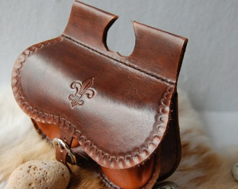medieval leather purse