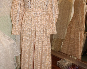 LAURA ASHLEY prairie dress - 1960S Victoriana VHTF