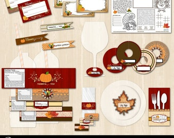 Thanksgiving Table Setting Printable Bundle Package