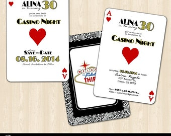 Casino Night/Vegas Birthday Invitation