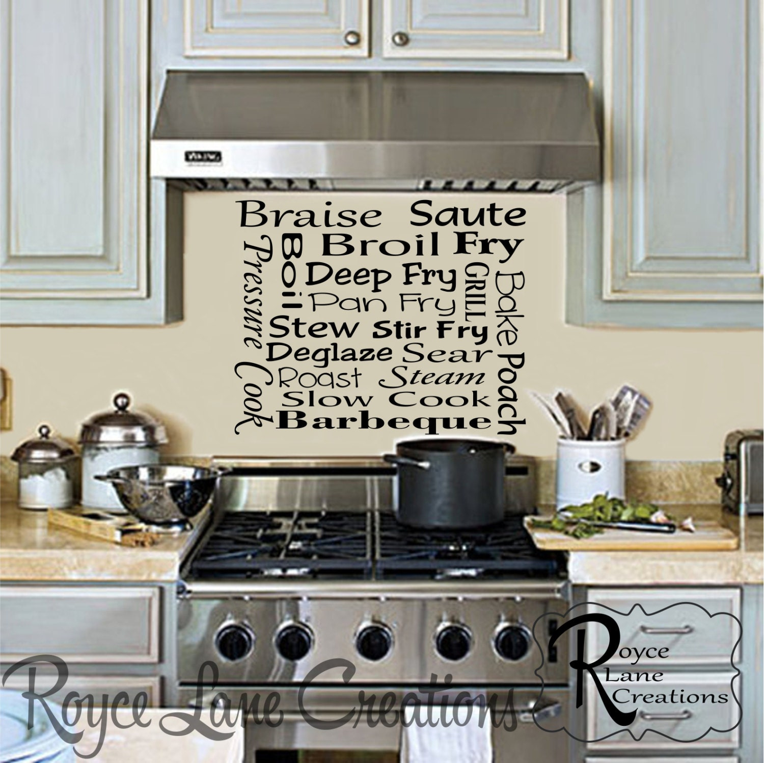 Kitchen Subway Art Cooking Methods Kitchen Wall Decal