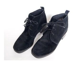 Size 7M Hush Puppies Black Suede Desert Boots