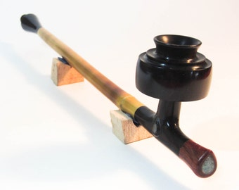 The Pipe of the Teardrop handmade wood wizard pipe